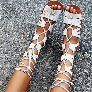 Free People Mesa Verde Gladiator Sandals Lace Up